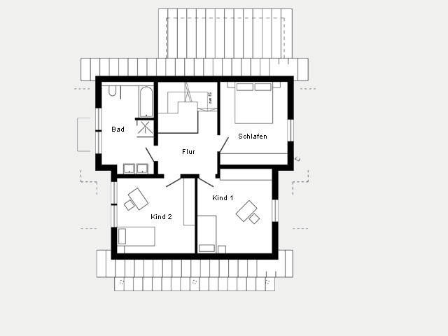 Grundriss DG Kundenhaus Plan 417.13