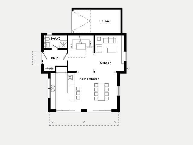 Grundriss EG Kundenhaus Plan 417.13