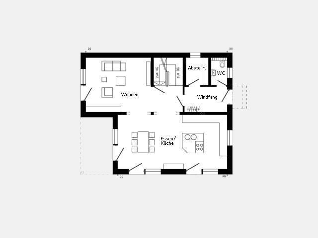 Grundriss Erdgeschoss Effizienzhaus Plan 679.2