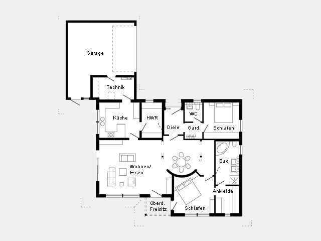 Grundriss Erdgeschoss Kundenhaus - Plan 296.5