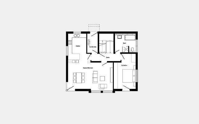 Grundriss Erdgeschoss Trendhaus E 15-147.1