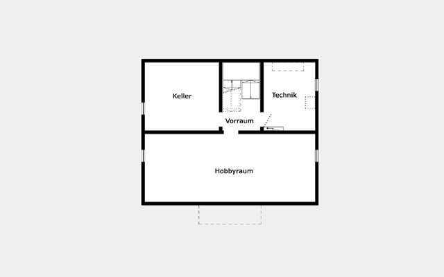 Grundriss Kellergeschoss Trendhaus E 15-147.1