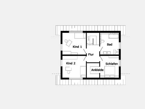 Grundriss Dachgeschoss Trendhaus E 15-114.1