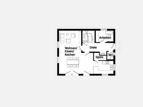 Grundriss Erdgeschoss Trendhaus E 15-148.1