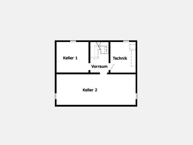 Grundriss Kellergeschoss Trendhaus E 15-148.1