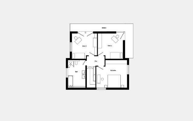Grundriss Dachgeschoss Trendhaus E 15-133.1