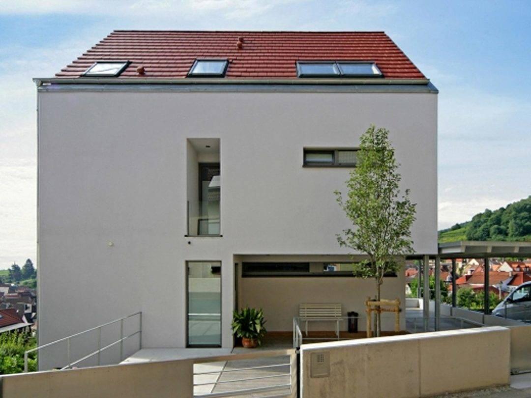 Fertighaus Weiss Stadthaus Seitenansicht
