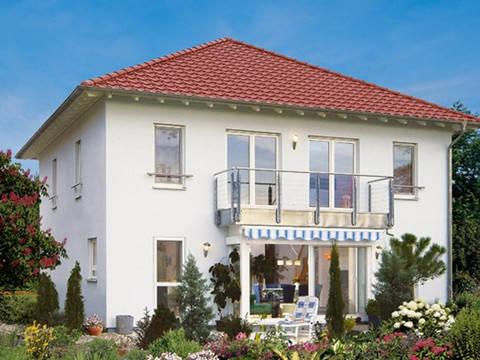 Fertighaus Weiss Stadtvilla Sattler