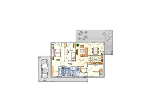 Grundriss EG Bungalow Nivelo von Fingerhut Haus