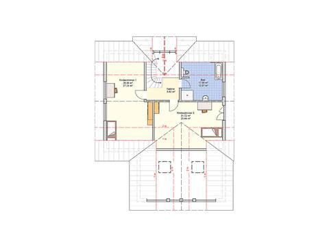 Fingerhut Haus Einfamilienhaus Brilo Grundriss DG