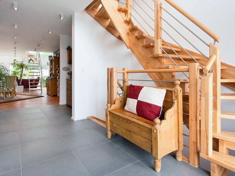 Innenansicht Treppenhaus - Einfamilienhaus Brilo - Fingerhut Haus