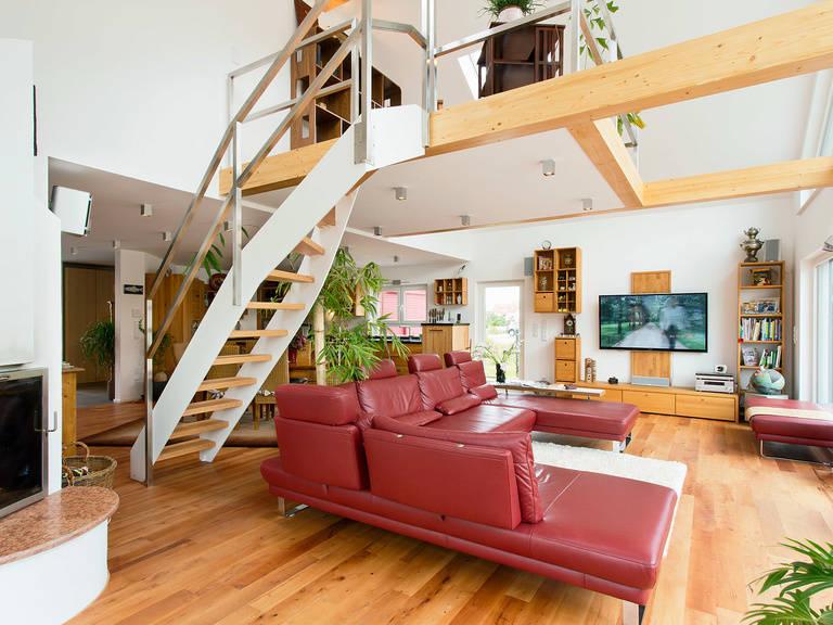 Innenansicht Wohnzimmer - Einfamilienhaus Brilo - Fingerhut Haus