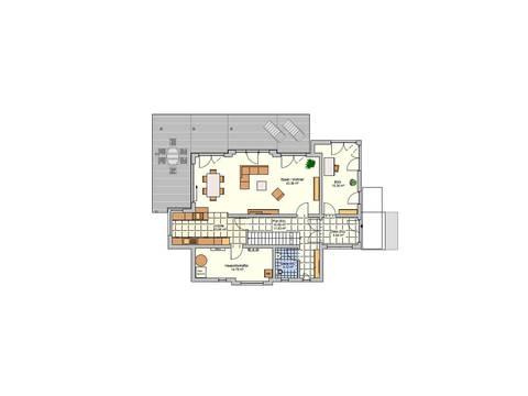 Fingerhut Haus Pultdachhaus Cielo - Grundriss EG