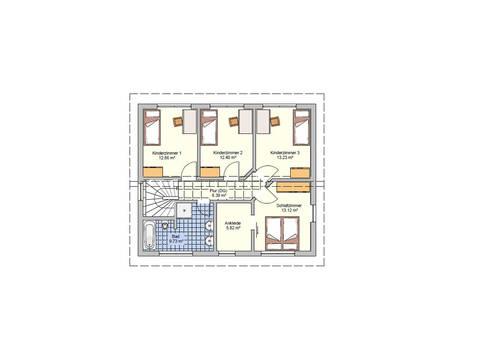 Fingerhut Haus Pultdachhaus Cielo - Grundriss OG
