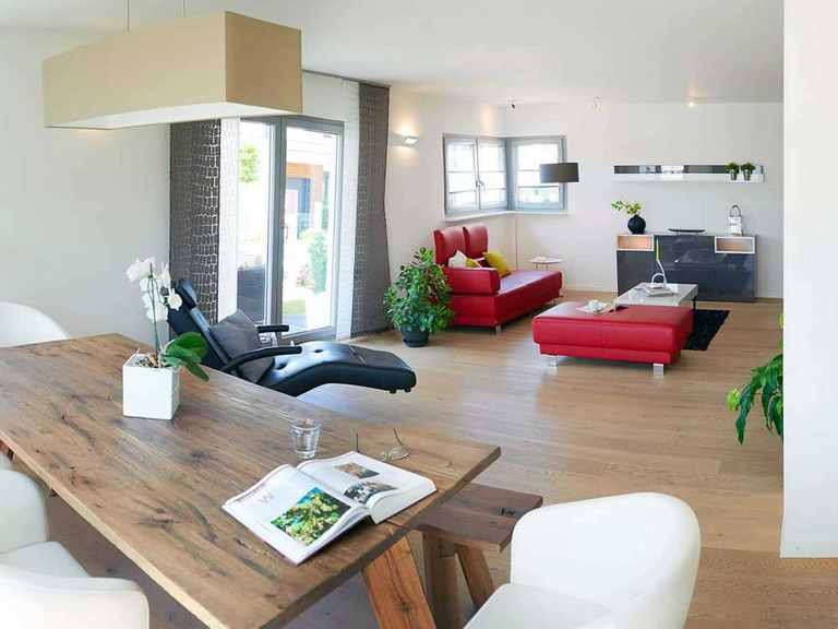 Musterhaus Köln - Fingerhut Haus Wohnzimmer und Essbereich