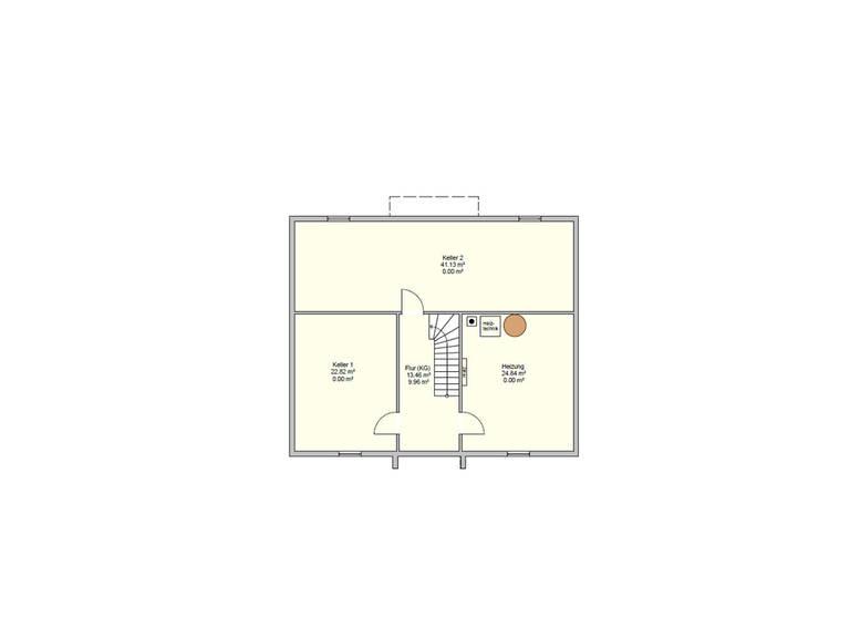Grundriss Keller Haus R 118.20 Fingerhut