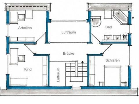 Fertighaus Weiss - Pultdachhaus Achilles - Grundriss DG