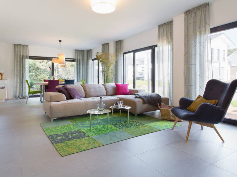 Musterhaus Wuppertal - Fingerhut Haus Wohnzimmer