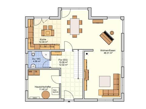 Fingerhut Haus Einfamilienhaus Solera Grundriss EG