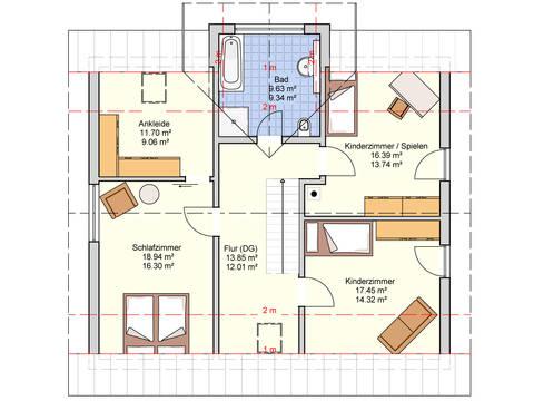Fingerhut Haus L 105.10 Grundriss DG