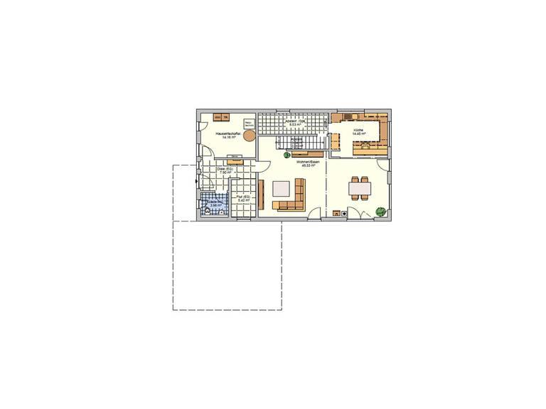 Grundriss EG Fingerhut Haus R 126.10