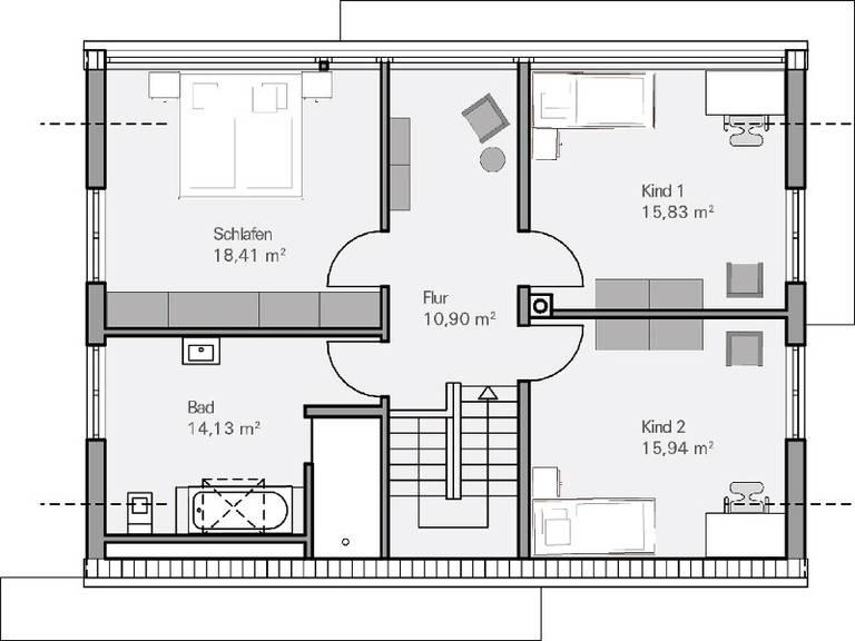 Medium Haus Vettel Grundriss DG - Plan Concept Massivhaus GmbH