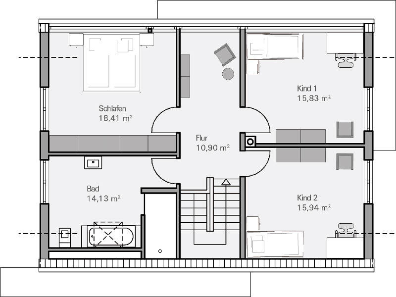 Medium Haus Vettel Grundriss DG   Plan Concept Massivhaus GmbH