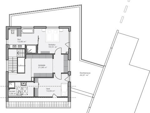Haus Teichmann Grundriss OG - Plan Concept Massivhaus GmbH