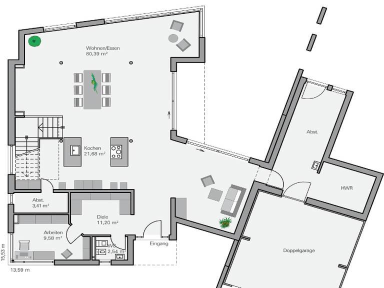Haus Teichmann Grundriss EG - Plan Concept Massivhaus GmbH