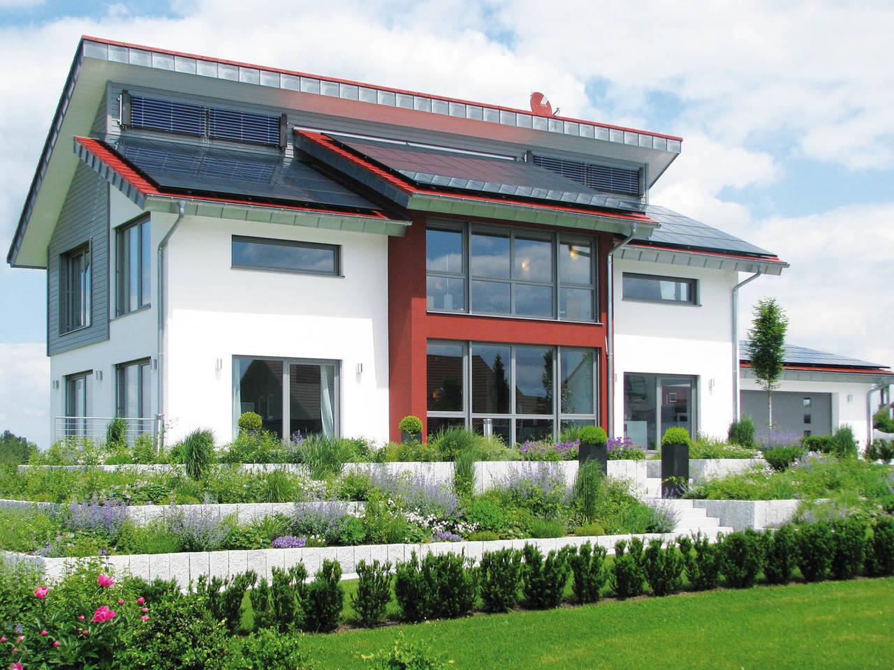 Sonnenenergiehaus Style Fertighaus Weiss