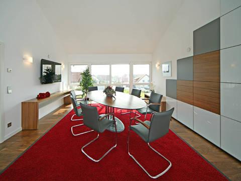 Sonnenenergiehaus Style Büro Fertighaus Weiss