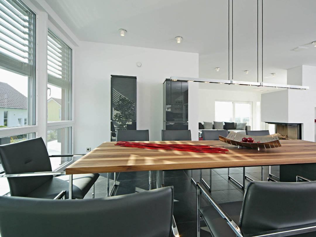 Sonnenenergiehaus Style Esszimmer Fertighaus Weiss