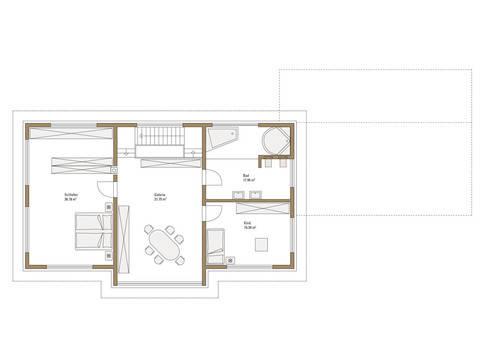 Sonnenenergiehaus Style Grundriss DG Fertighaus Weiss