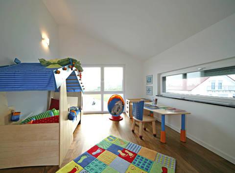 Sonnenenergiehaus Style Kinderzimmer Fertighaus Weiss
