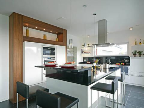 Sonnenenergiehaus Style Küche Fertighaus Weiss