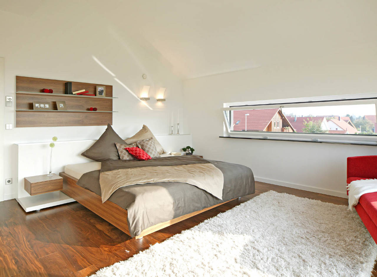 Sonnenenergiehaus Style Schlafzimmer Fertighaus Weiss