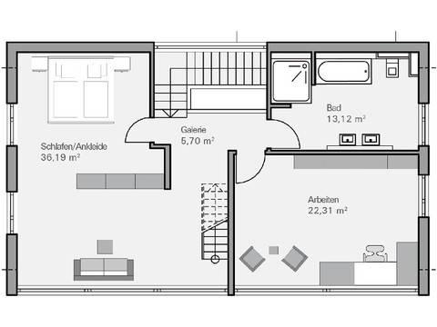 Haus Immel Grundriss DG - Plan Concept Massivhaus GmbH
