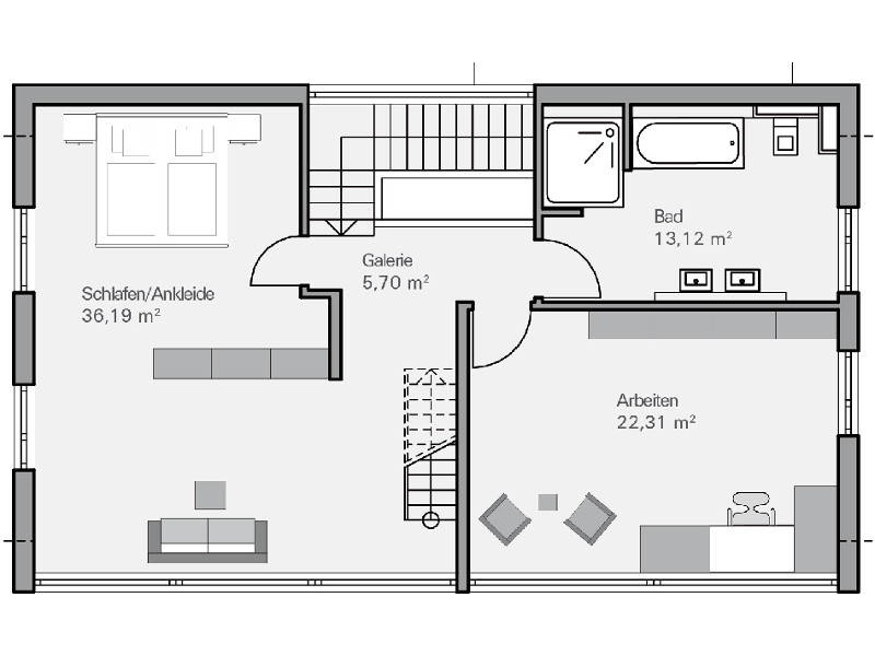 Haus Immel Grundriss DG   Plan Concept Massivhaus GmbH