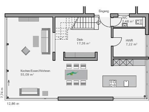 Haus Immel Grundriss EG - Plan Concept Massivhaus GmbH