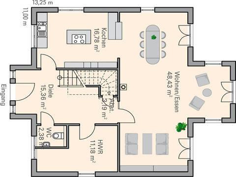 Haus Sander Grundriss EG - Plan-Concept Massivhaus GmbH