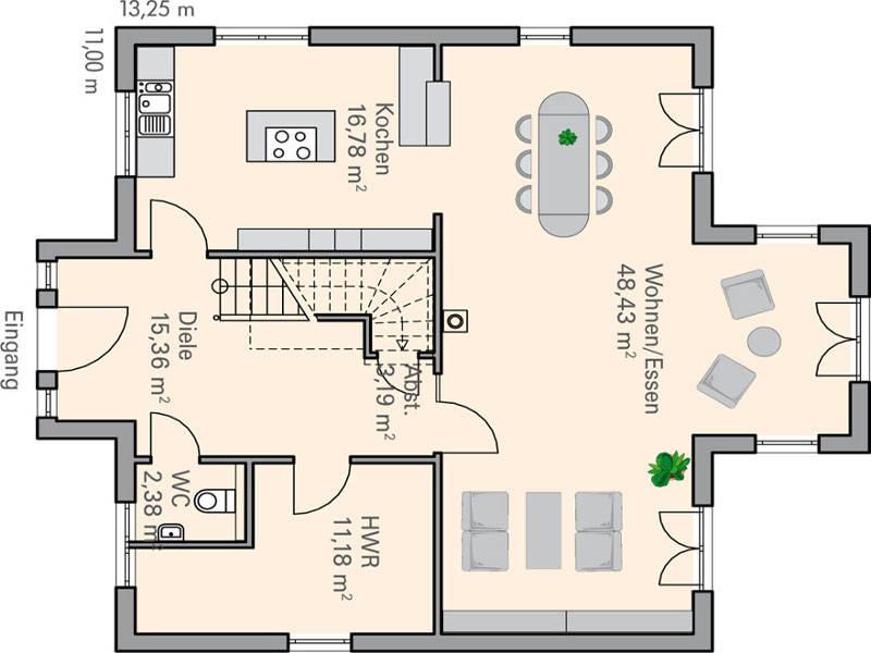 Haus sander plan concept massivhaus for Muster grundrisse haus