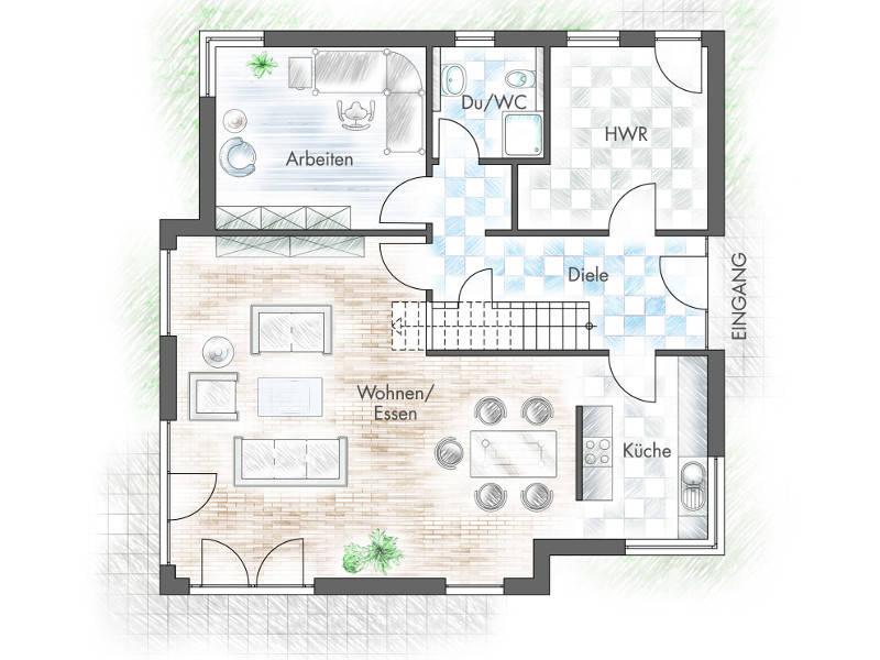 Haus freiberger plan concept massivhaus for Muster grundrisse haus