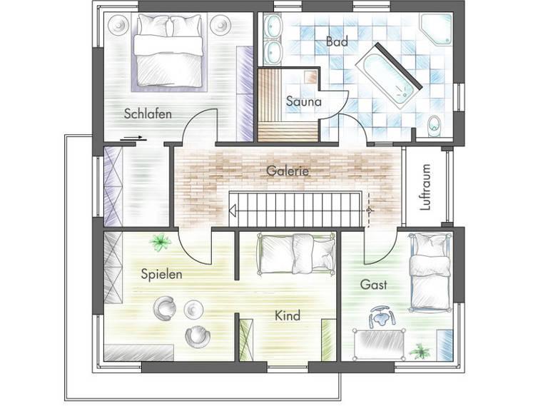 Haus Freiberger Grundriss OG - Plan-Concept Massivhaus GmbH