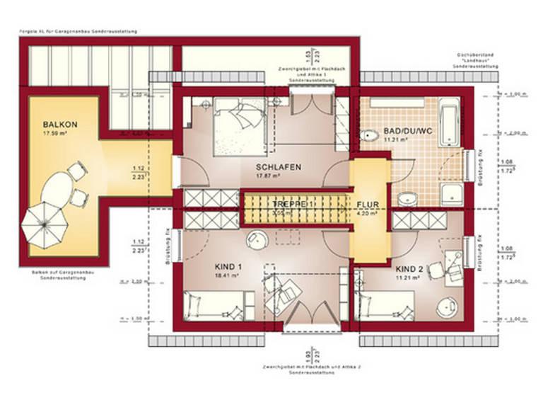 Grundriss DG Concept-M Aktionshaus 134 TL V7 von Bien-Zenker