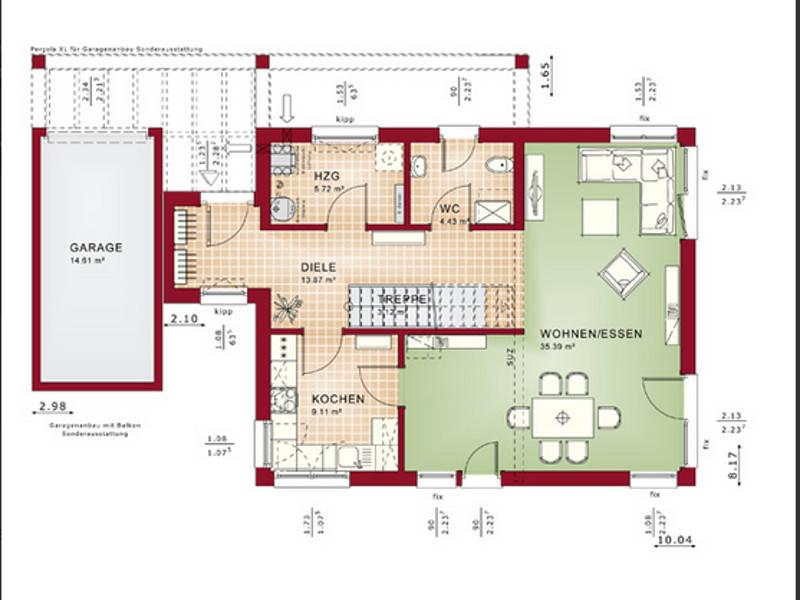 Grundriss EG Concept-M Aktionshaus 134 TL V7 von Bien-Zenker