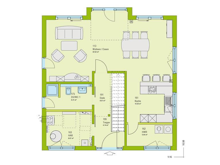 Haus Pure 2 Grundriss EG von massa haus