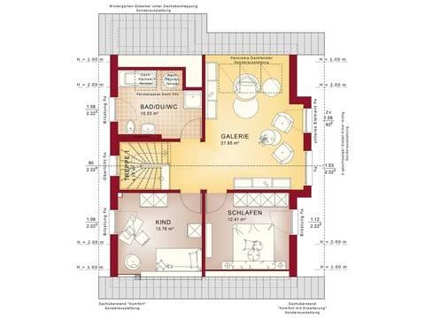 Bien-Zenker Haus Celebration 137 V2 Grundriss DG Galerie
