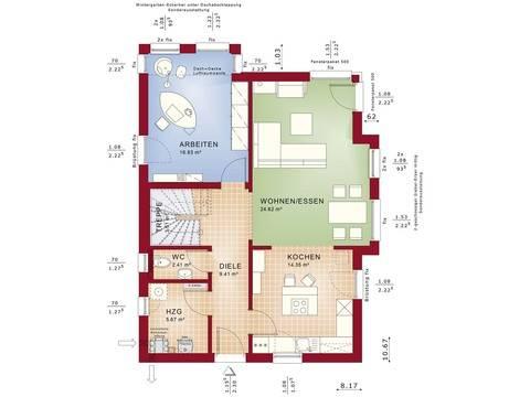 Bien-Zenker Haus Celebration 137 V2 Grundriss EG