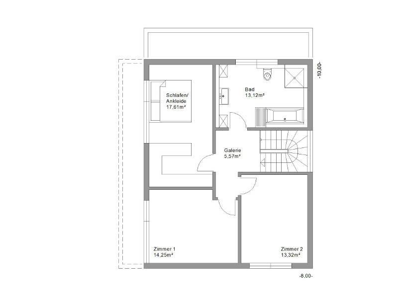 Legno Haus Design 131plus Grundriss OG