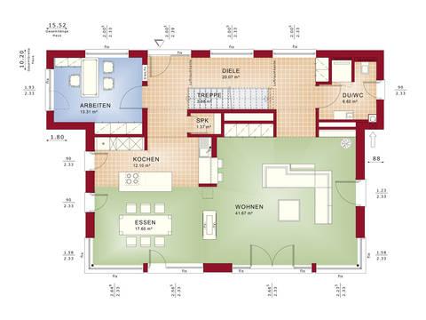 Grundriss EG Musterhaus CONCEPT-M 188 Wuppertal